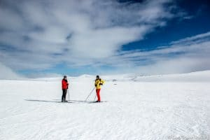 Cross Country skiing by Lake Mývatn-5