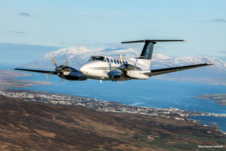 Direct Private flights from Keflavík international airport to Lake Mývatn the artic North and Akureyri Airport