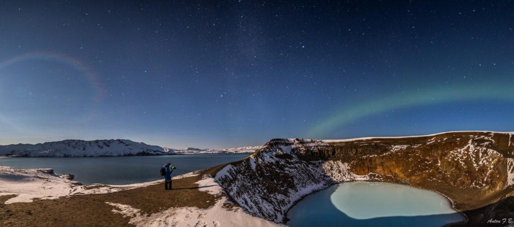 Askja Caldera & Northern lights